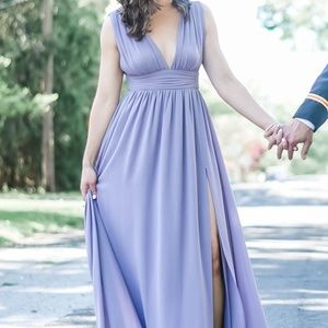 Heavenly Hues Maxi Dress - Dusty Purple